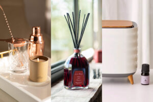 Scenting a home with candles, reed diffuser and smart diffuser